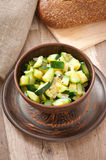 Steamed zucchini with spices Royalty Free Stock Images