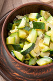 Steamed zucchini with spices Royalty Free Stock Photo