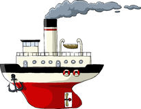 Steamer. On a white background, vector Stock Photo