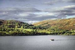 Steamer. On Lake Ullswater, Lake district, England, UK Stock Images