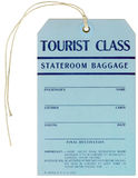 Steamer Baggage Tag - 1937 stock image