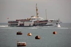 Steamer boat on sea Stock Image