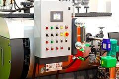 Steamer boiler. Big industrial steamer boiler for hot water Stock Images