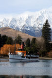 Steamer on a lake. A steamer on Lake Wakatipu in Queenstown, New Zealand Royalty Free Stock Images