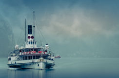Steamer on the Lake stock photo