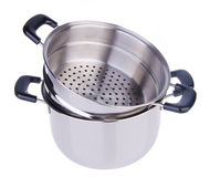 Steamer pan on background Stock Photo
