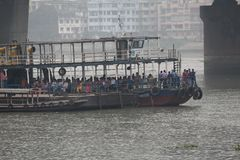 A steamer ride in ganges. Calcutta royalty free stock photography