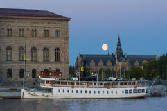Steamer S/S Norrskar blue hour Stockholm Royalty Free Stock Images