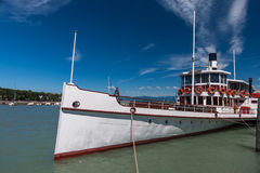 Steamer ship in the port Stock Photo