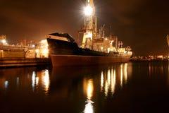 Steamer in the shipyard Stock Image
