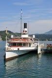 steamer switzerland för lucerneskovelpir Royaltyfri Fotografi