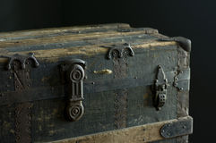 Steamer Trunk From 1889 Stock Photo