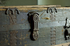 Steamer Trunk Side View Royalty Free Stock Image