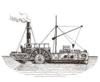 Steamer on a white background. sketch Stock Image