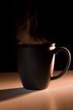 Steaming Black Bistro-style Mug Royalty Free Stock Images