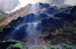 Steaming Cascades. The cascades of a canyon in Mexico stock image