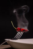 Steaming chili Royalty Free Stock Images