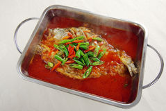 Steaming chinese food, fish Royalty Free Stock Images