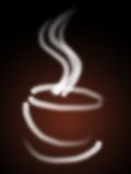 Steaming coffee. An illustration of a steaming coffee cup on black background royalty free illustration