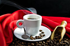Steaming coffee Royalty Free Stock Photography