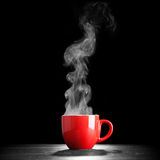 Steaming coffee cup Royalty Free Stock Image