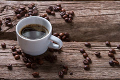 Steaming coffee cup. Royalty Free Stock Image