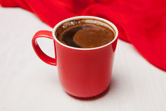 Steaming coffee cup Stock Photos