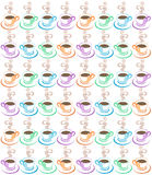 Steaming Coffee Cups Pattern Royalty Free Stock Image