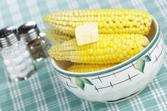 Steaming corn Royalty Free Stock Image