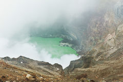 Steaming Crater Stock Photos
