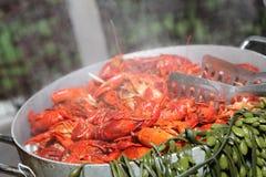 Steaming Crawfish Royalty Free Stock Photo
