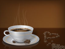 Steaming cup of coffee Stock Photos