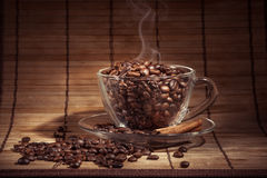 Steaming cup of coffee Royalty Free Stock Images