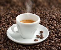 Steaming cup of coffee Royalty Free Stock Image