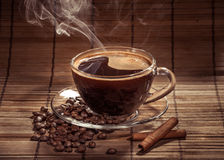 Steaming cup of coffee Stock Image