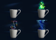 Steaming Digital Coffee Cup Royalty Free Stock Photo