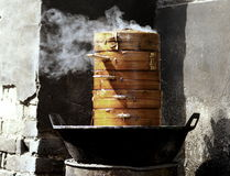 Steaming food Stock Photos