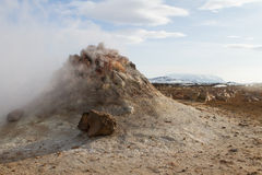 Steaming fumarole. In north Iceland Stock Photography
