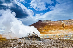 Volcanism in Iceland Stock Photography