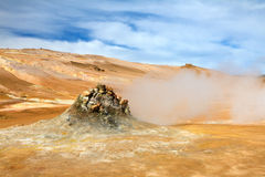 Steaming fumarole in Hverir, Namafjall Royalty Free Stock Photo
