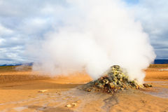 Steaming fumarole in Hverir, Namafjall Stock Photos
