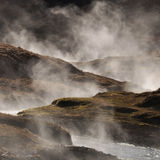 Steaming geothermal hot water, Iceland Stock Image