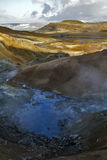 Steaming Geothermal Site of Seltun, Iceland Stock Photography
