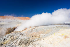 Steaming geyser on the Andes, Bolivia Royalty Free Stock Images
