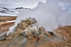Geothermal geyser in Iceland Stock Images
