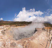 Steaming Geyser in Java, Indonesia Stock Photo