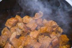 Steaming goulash Stock Photos