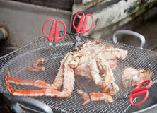 Steaming hairy crab Royalty Free Stock Images