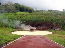 Steaming hole, Caldeiras, Azores Stock Photography