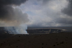 Kilauea crater Stock Images